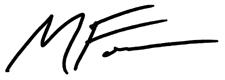 Michael Foster Signature
